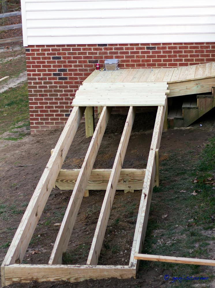 Genji 39 s corner jaime 39 s ramp for Porch deck plans