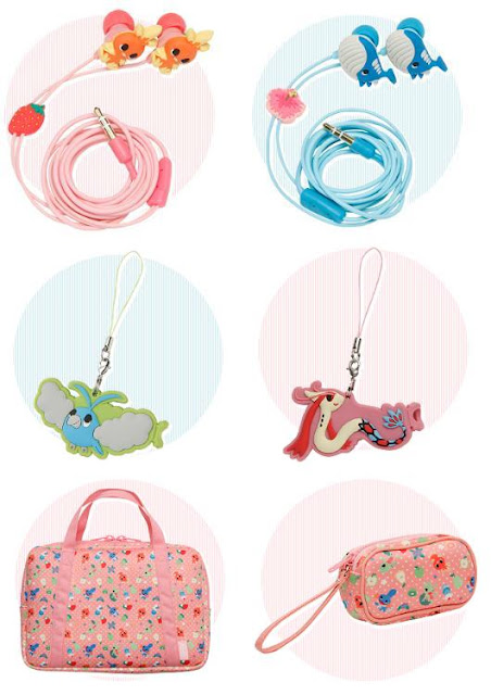 Pokemon Time RS Earphone Codeclip Softbag PokeCenJP