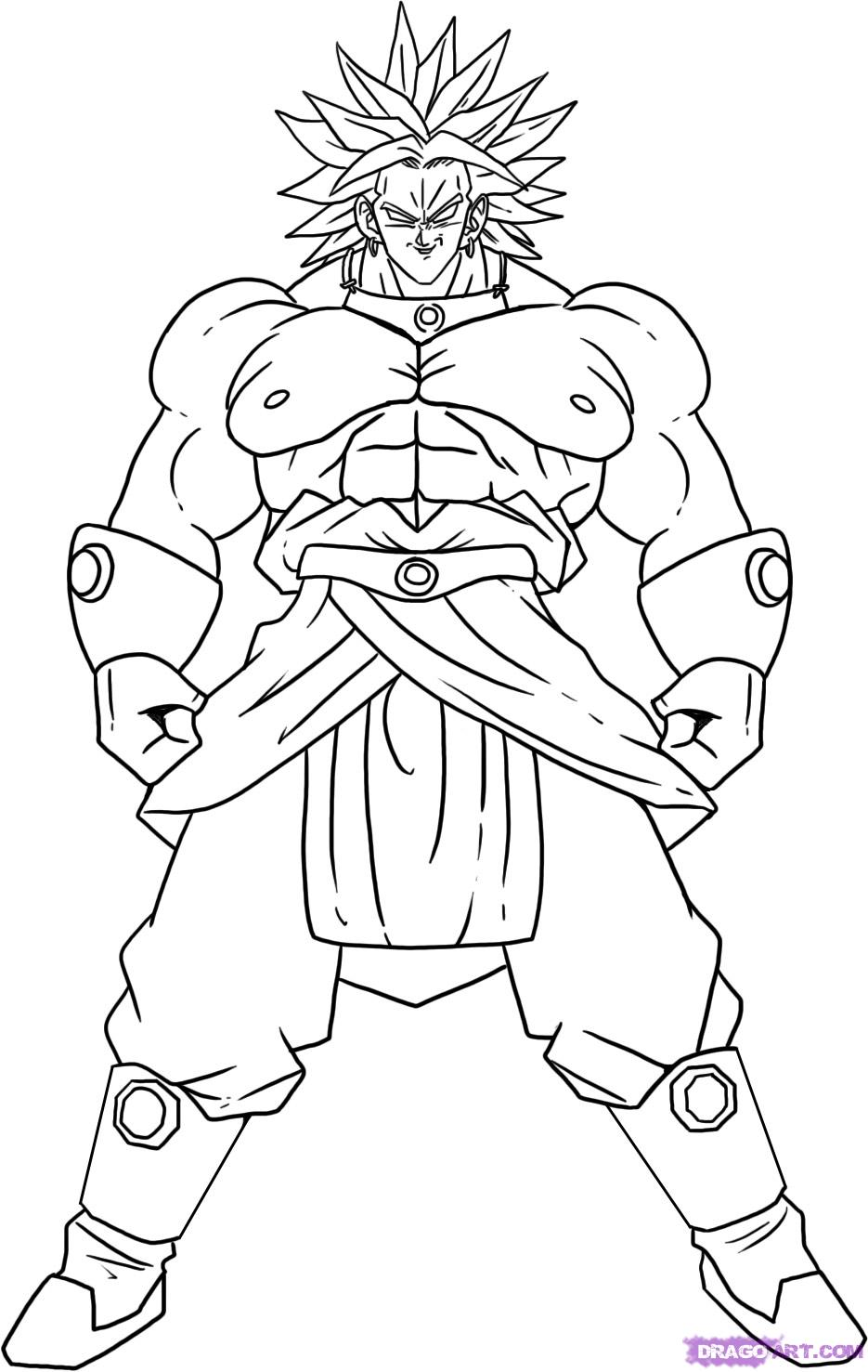 Dragon ball z wallpapers broly legendary super saiyan for Dragon ball z cell coloring pages