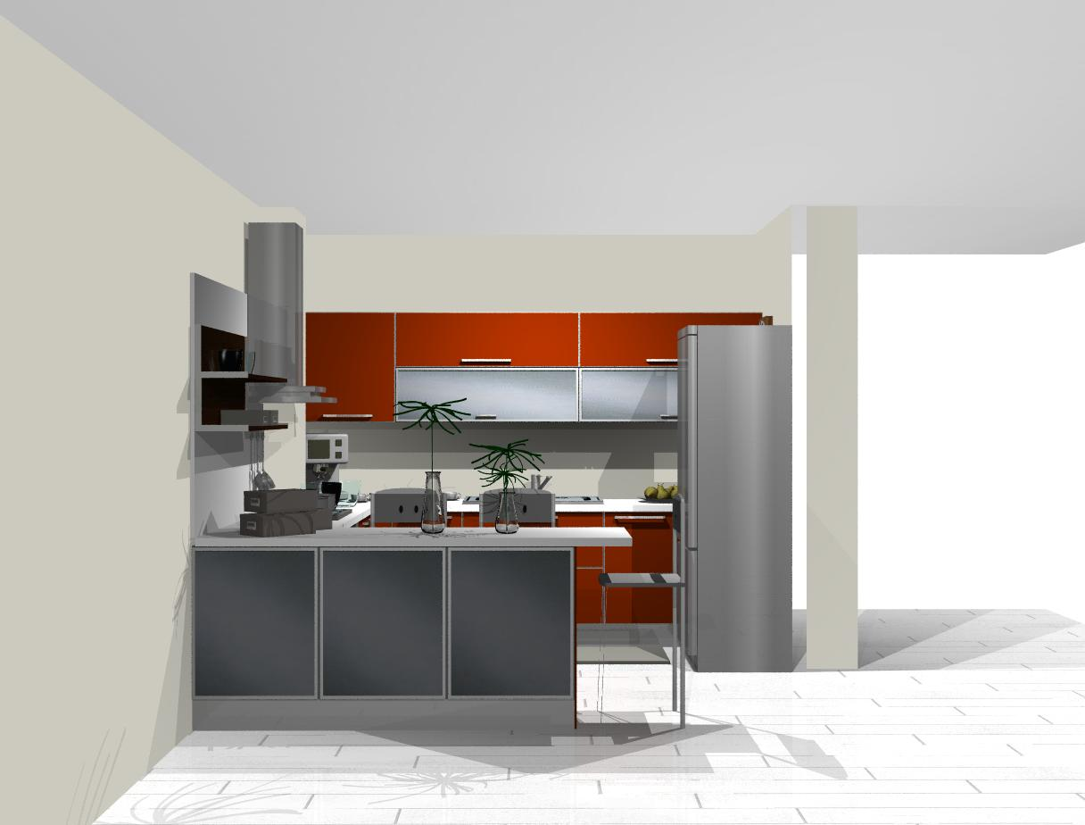 Square Kitchen Layout