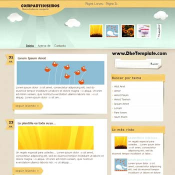 Compartidisimos blogger template. beautiful design blogger template