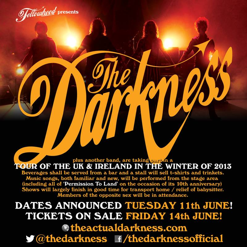 The darkness uk tour november december 2013 you review uk for 6 degrees salon portsmouth
