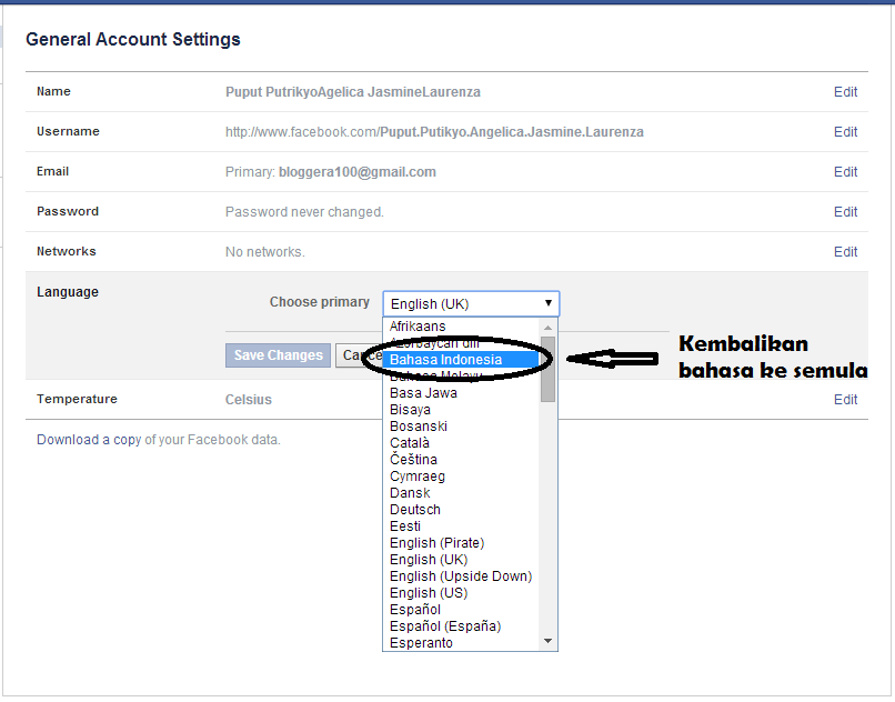 Cara Mengganti Nama Facebook Yang Sudah Limit Terbaru
