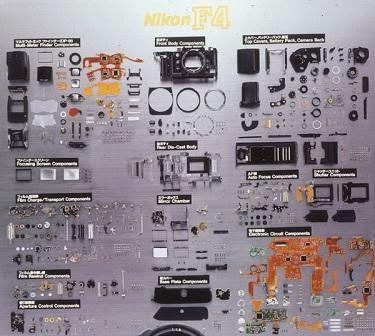 Bongkar kamera analog Nikon F4