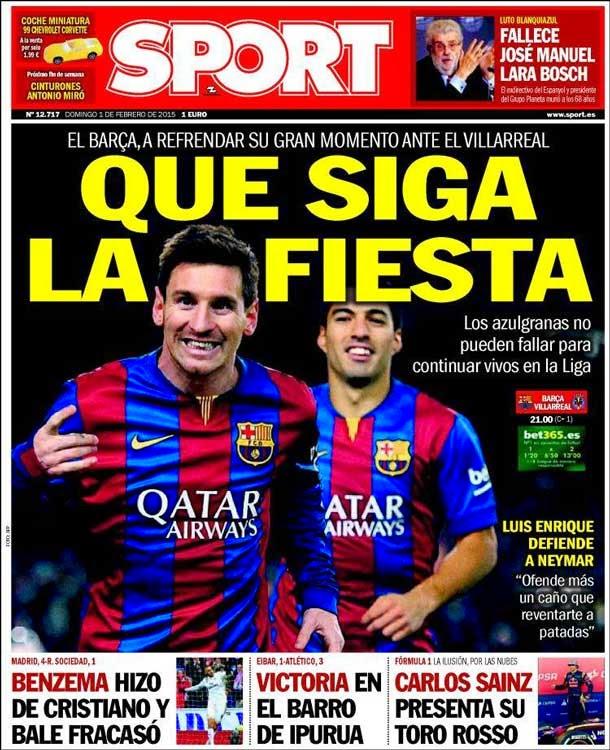 Portada Sport (01/02/2015)