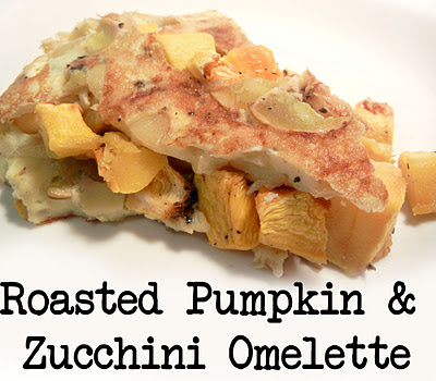 Roasted Pumpkin & zucchini omelette