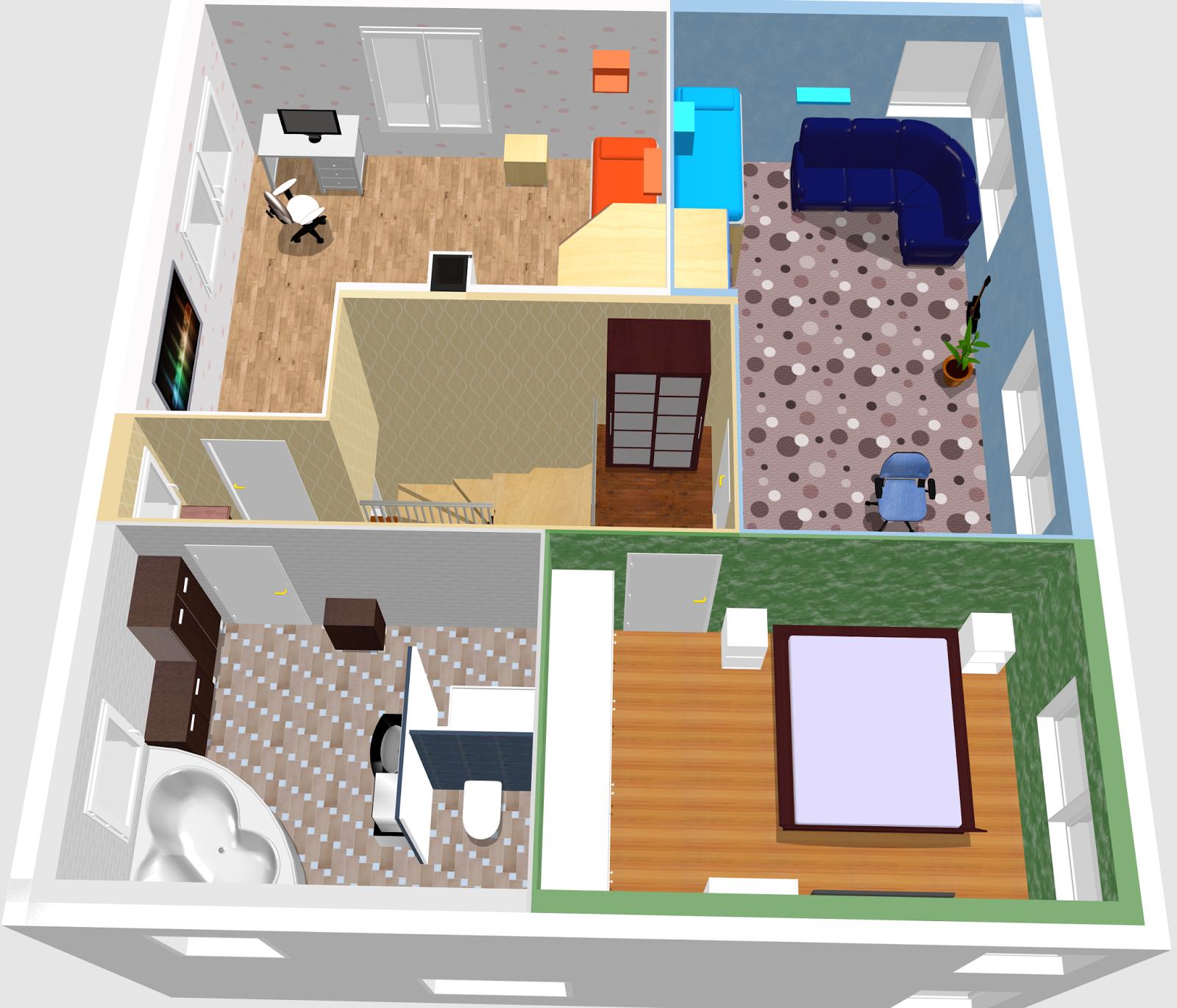 Die Einrichtung Der Kinderzimmer Ist Nur Beispielhaft, Genauso Wie  Sämtliche Wand  Und Bodenfarben! Das Badezimmer Wird Ein T Bad (Dusche, WC,  ...