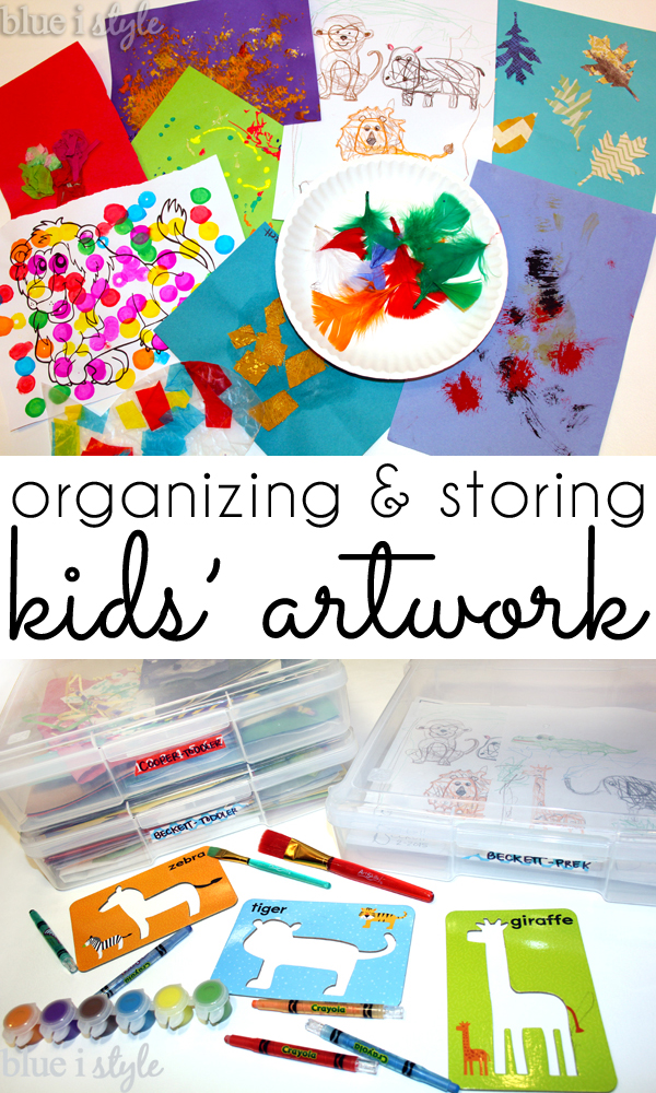 Organize & Store Kids' Art