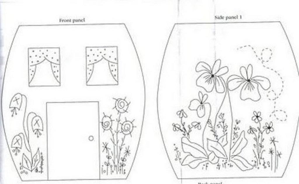 Las chorradikas de laury patr n caja patchwork en forma - Patrones casas patchwork ...