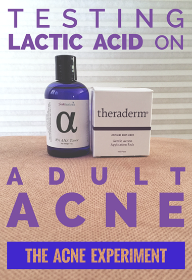 Testing Lactic Acid on Adult Acne - The Acne Experiment
