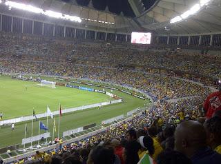 moses mabhida stadium full during bafana match