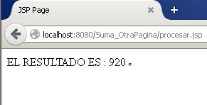 Java Web Application Suma en otra pagina