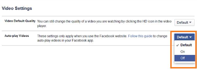 Cara Mematikan Fitur Autoplay Video di Facebook