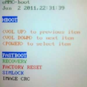 how to enter hboot
