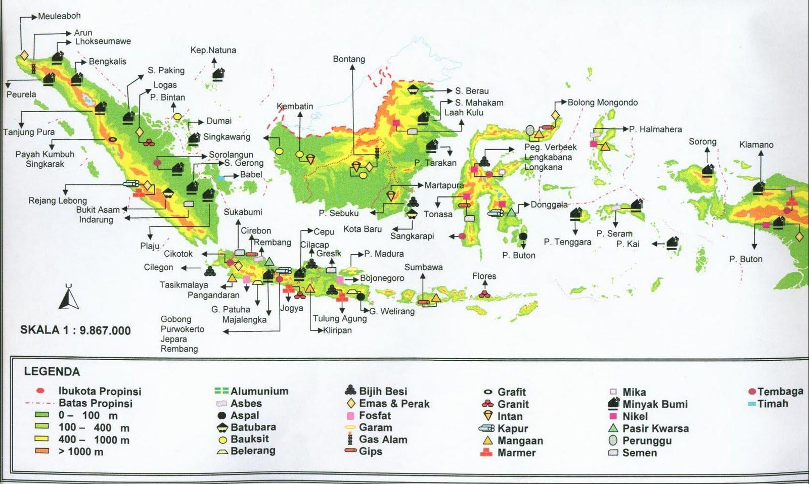 Persebaran Sumber Daya Alam Tambang di Indonesia