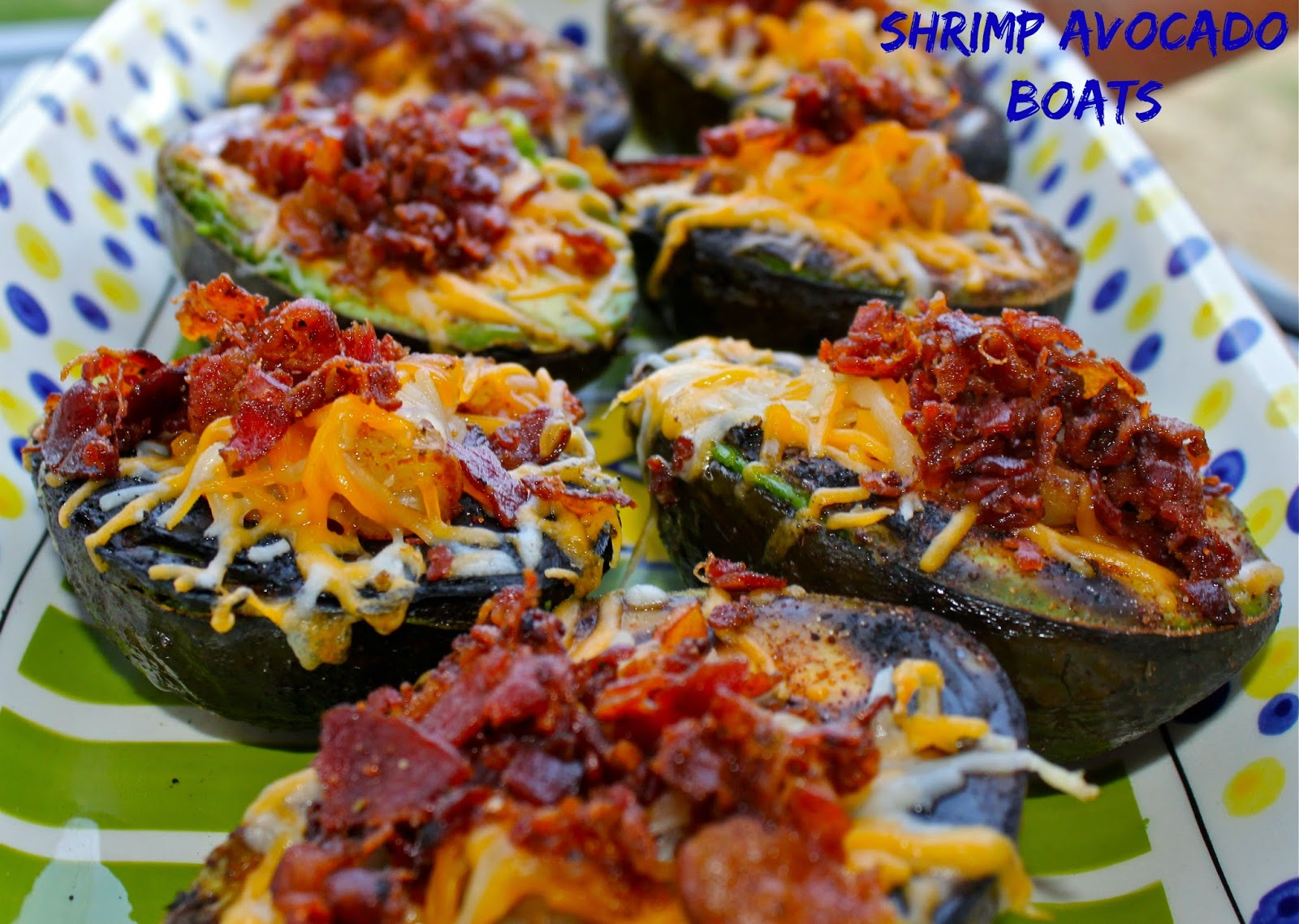 Grilled Avocado with bacon