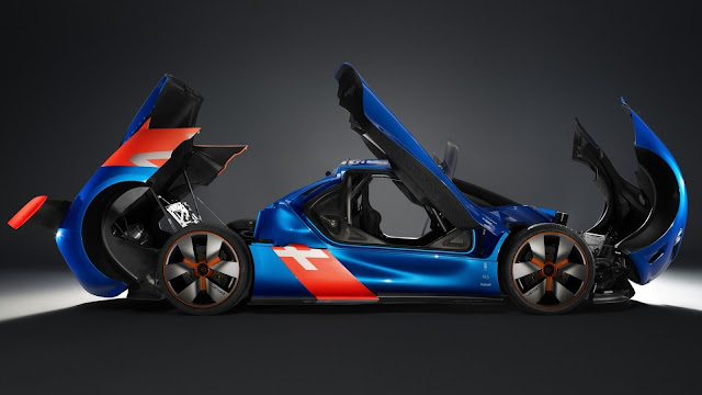 Renault Alpine A110 50 Concept car side view HD Wallpaper