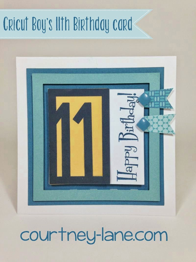 11th birthday card
