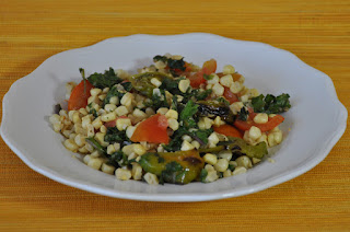 Salad of Blistered Shishitos with Corn and Tomatoes