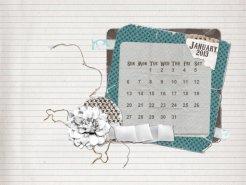 january 2013 desktop calendar sample