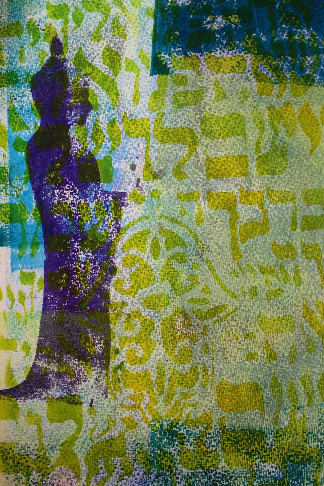 jessica sporn designs  art journal page using gelli prints