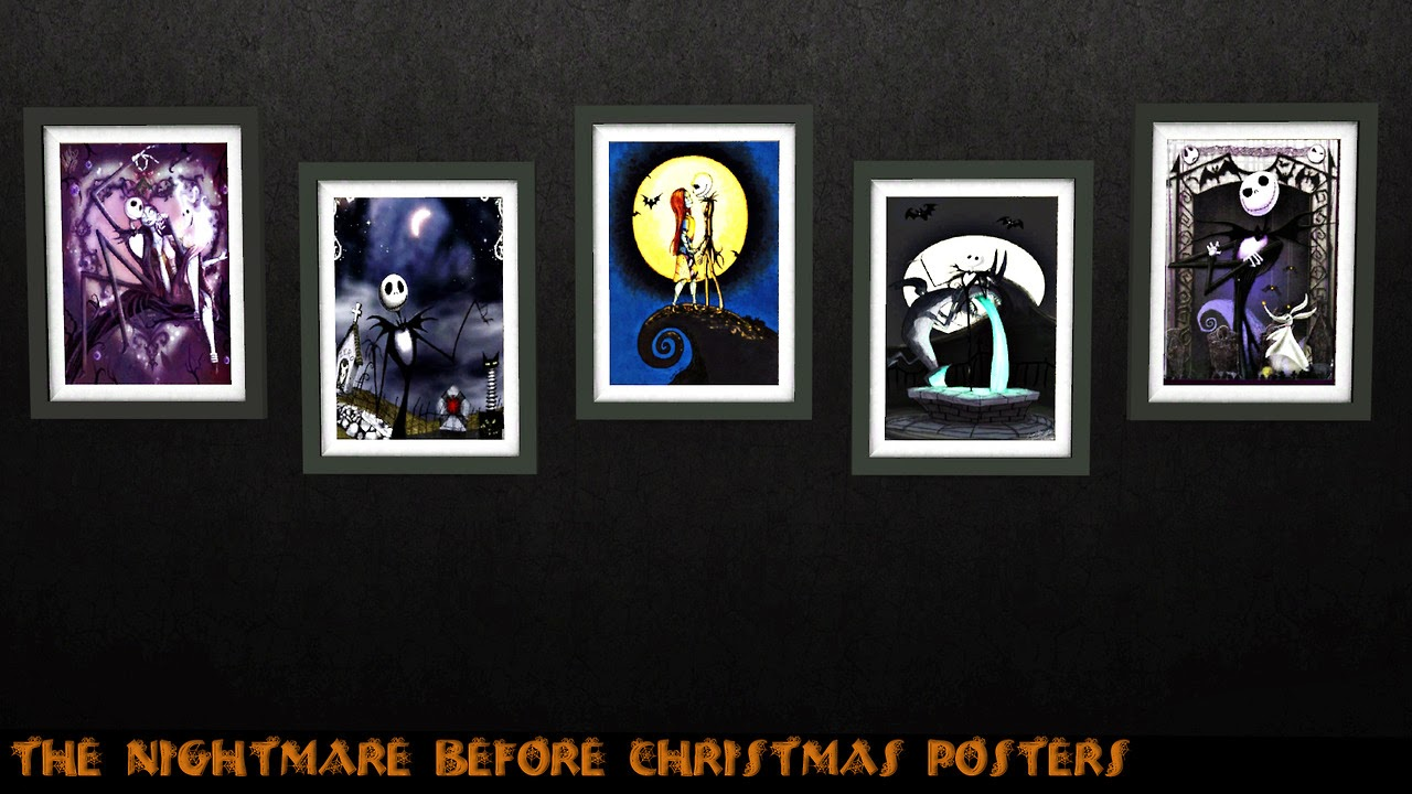My Sims 3 Blog: The Nightmare Before Christmas Posters by SimmingFate