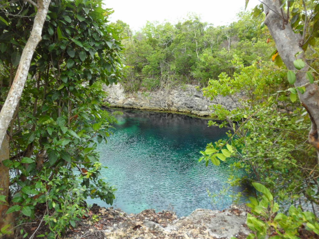 An imagine of Los Tanques Azules in Gibara Eastern Cuba