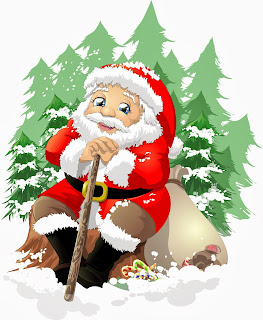 Resting Santa Claus