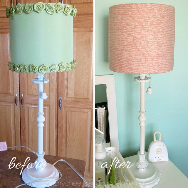 Lamp Shade Before & After : Squishy Cheeks & Cupcakes