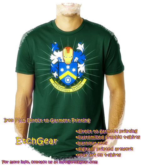 Etchgear iron man direct to garment printing for Direct to garment t shirts