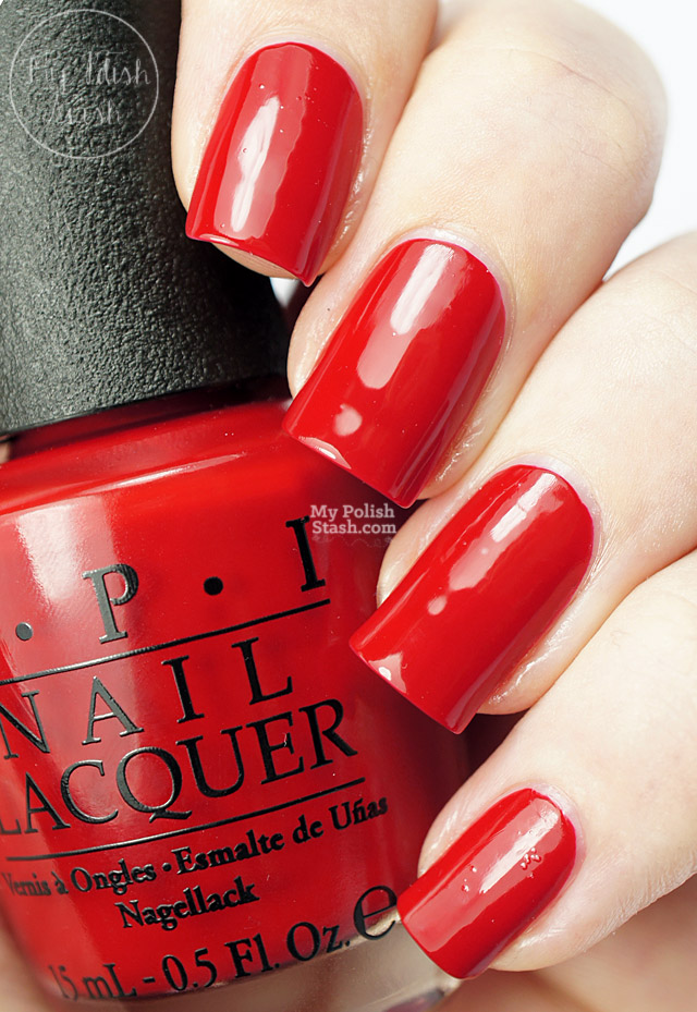 classic red nail polish