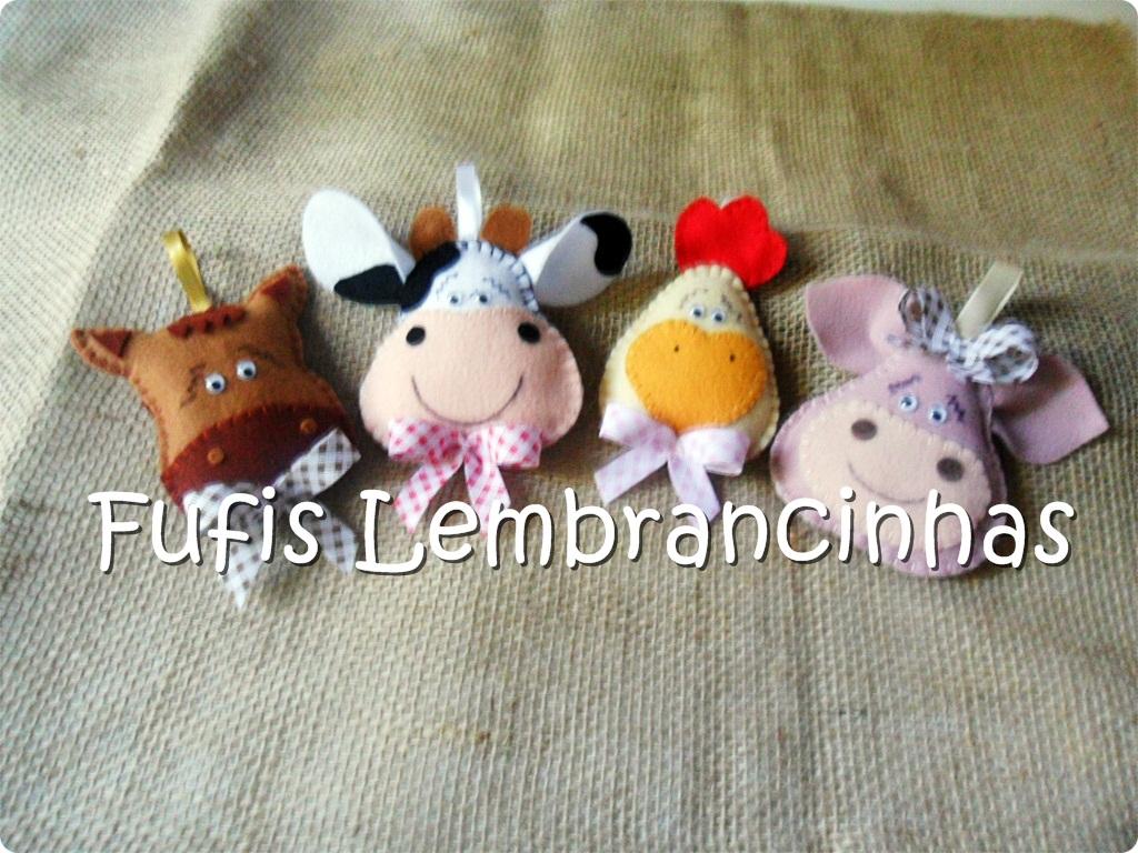 fazendinha, vaca, cavalo, pato, lembrancinhas, feltro