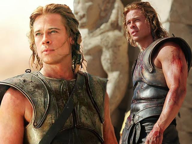 Brad Pitt en la película Troya
