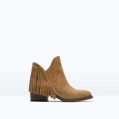 zara tassel boot, zara fringe boot,