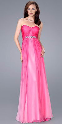 Pink Prom Dress on La Femme 2012 Pink Prom Dresses Gown