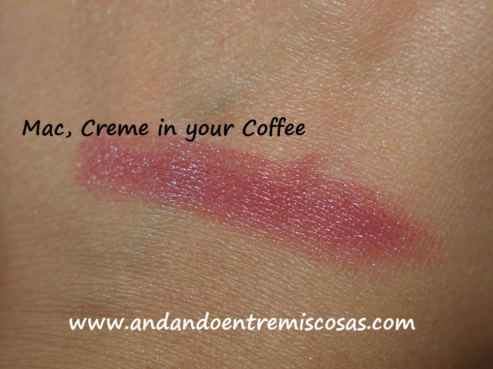 Labial Mac, Creme in your Coffee Swatch
