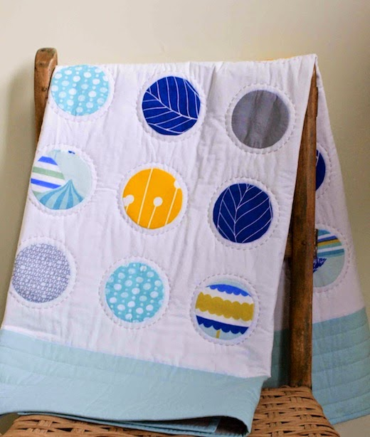 Custom Crib Size Dot Quilt