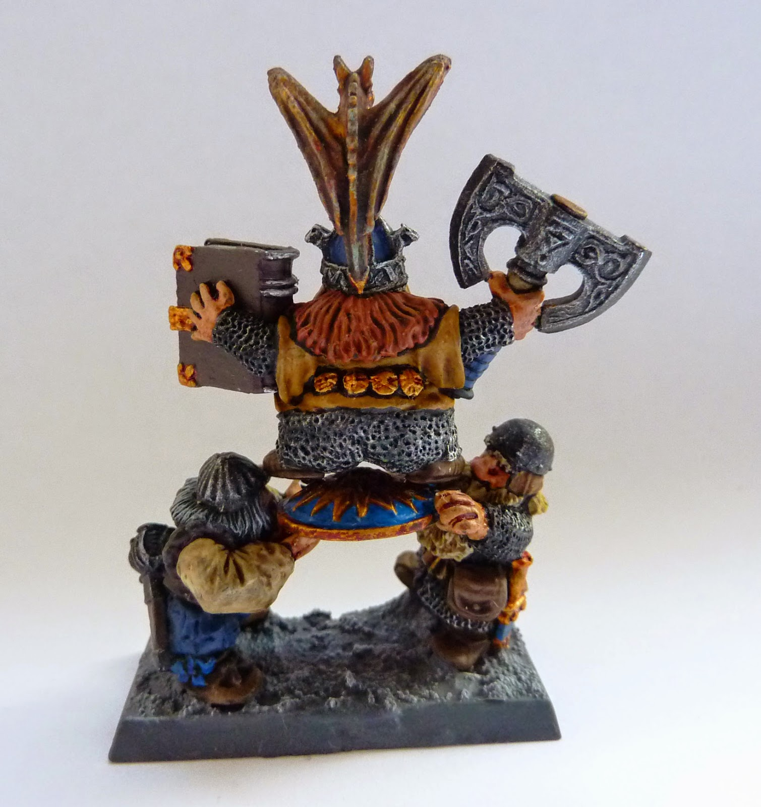 A Dwarf Shieldbearer conversion for Warhammer Fantasy Battle.