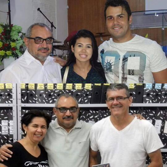 Juliana Xavier e Thiago Luan. Rosineide e Edgarzinho.