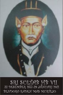 Raden Mas Murtejo,Sultan Hamengku Buwono VII