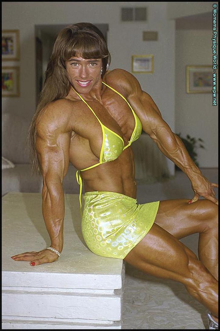 Denise Hoshor Modeling Her Massive Muscles