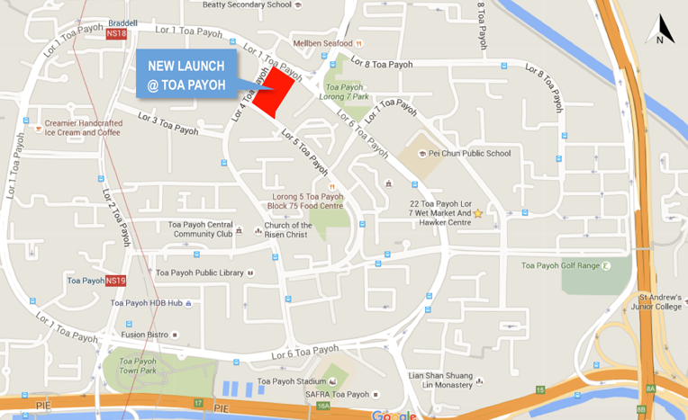 Toa Payoh Launch Map