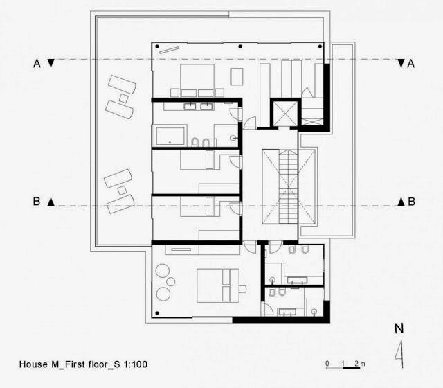Casa toda branca com planta arquitetura e decora o for Plantas de casas minimalistas
