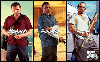 Michael Franklin Trevor In Gta 5 Game Wallpaper