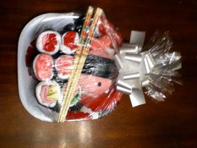 "creative dollar ""sushi"" baby shower gift, Baby shower"