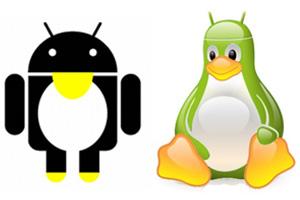 Android dan Linux Tux Logo