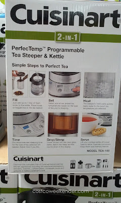 Cuisinart Tea-100 PerfecTemp Programmable Tea Steeper and Kettle with 6 preset tea temperatures