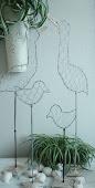 Gammal modell Fåglar 2 modeller silver/svart