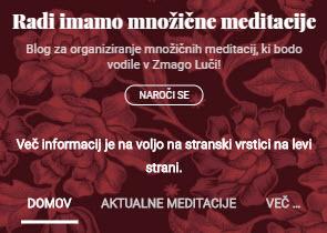 V sodelovanju z blogom Radi imamo množične meditacije: