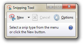 Nama softwarenya Snipping Tool